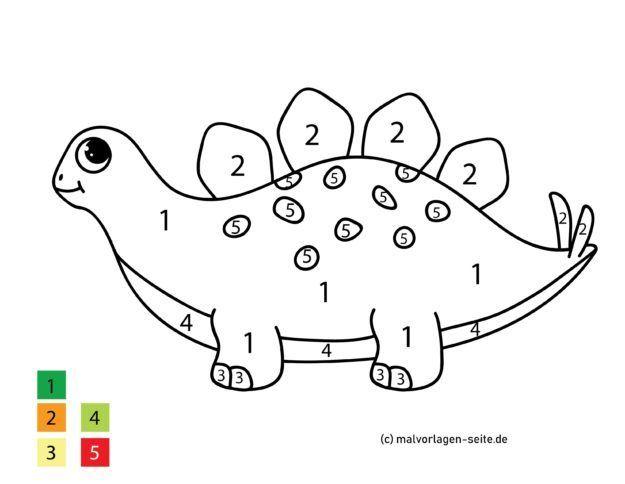 malen nach zahlen dinosaurier  malen nach zahlen kinder