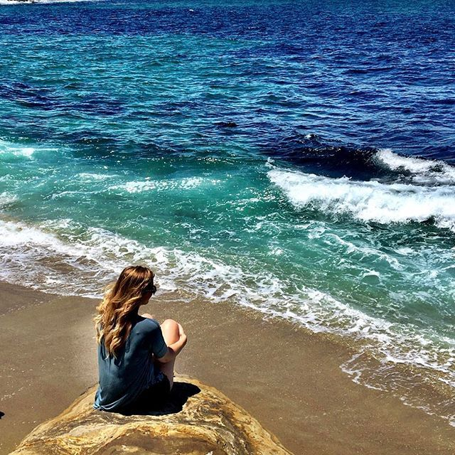 """""""To sit in silence at the shore, watch the waves and hear the surf, is to appreciate the very breath and heartbeat of the earth"""" -Doe Zantamata  #lajolla #lajollacove #lajollalocals #sandiegoconnection #sdlocals - posted by whitneyann90  https://www.instagram.com/whitneyann90. See more post on La Jolla at http://LaJollaLocals.com"""