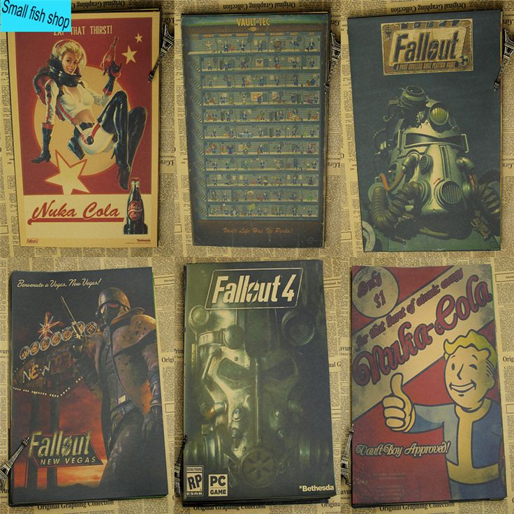 Fallout 3 4 Game Poster Home Furnishing decoration Kraft Game Poster Drawing core Wall stickers -- Click the VISIT button to view the details