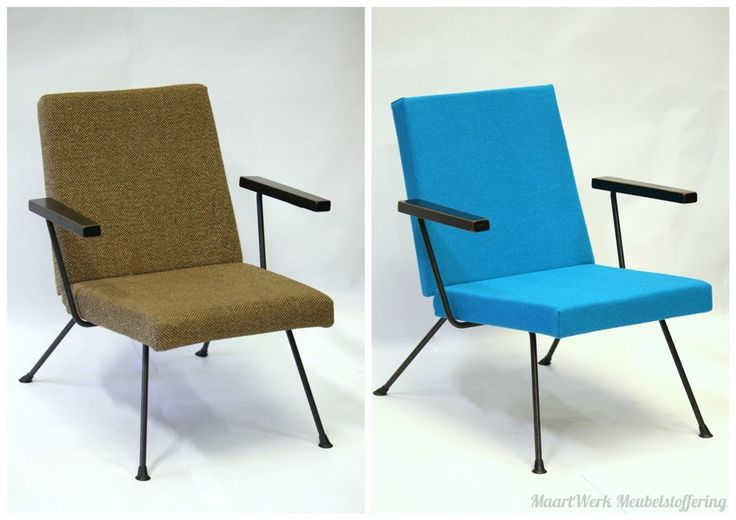 Upholstery Gispen chair, before and after.