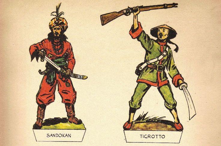 Meravigliosi soldatini di carta dedicati a Sandokan, immortale personaggio creato da Emilio Salgari. I soldatini nella parte alta del post...