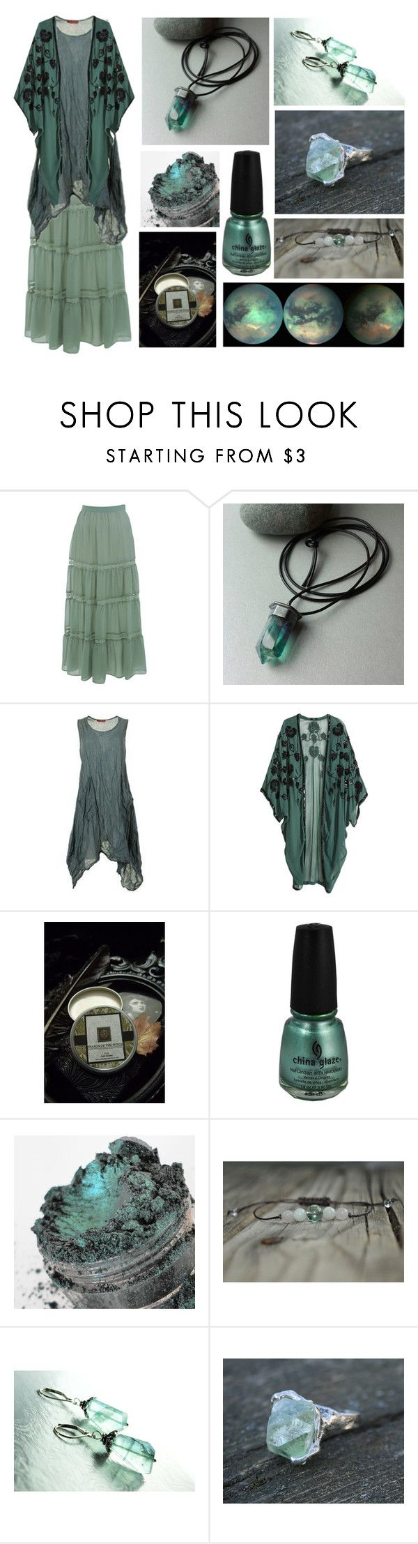 Ocean Storm by maggiehemlock on Polyvore featuring H&M, Miss Selfridge and China Glaze