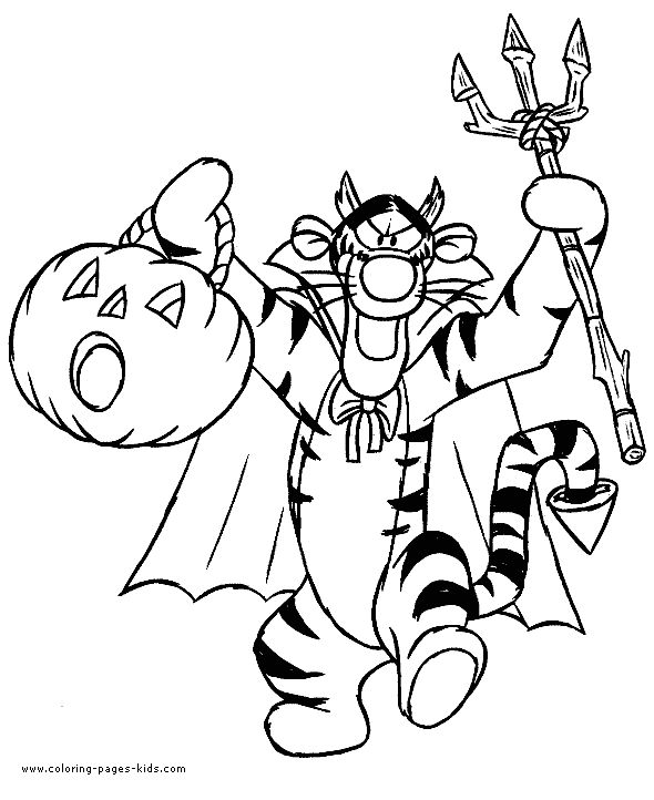Winnie the pooh halloween tigger dracula halloween picture coloring halloween color page coloring pages for kids