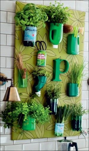 i bet i could make something like this...but i would spray paint the pots white and put in succulents
