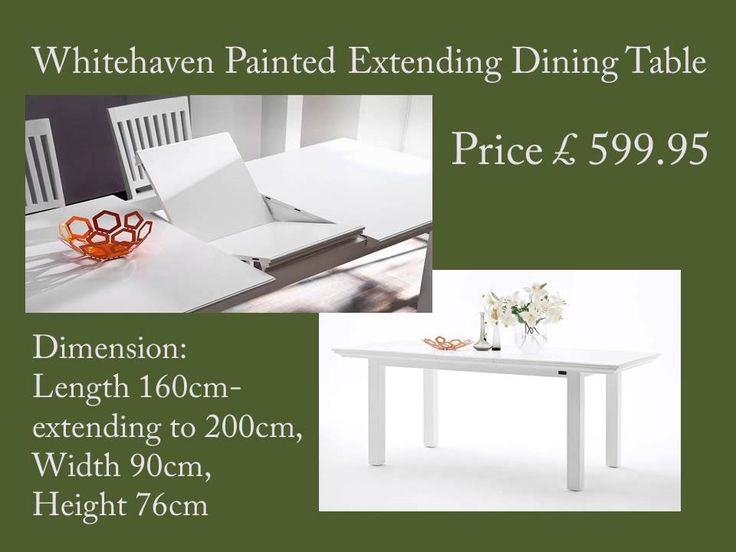 Whitehaven Painted Extending Dining Table