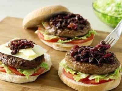 Irish Angus Burgers with Red Onion Marmalade