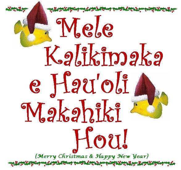 Hawaiian Holiday Greetings My Onolicious Hawaii