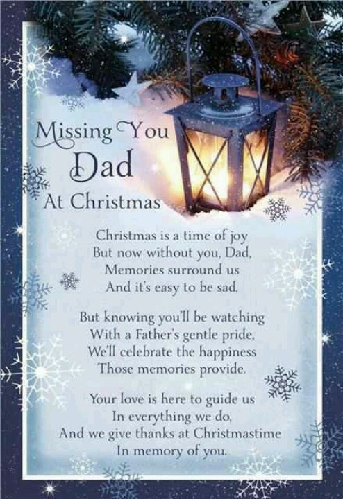 Missing dad....this will be the first Thanksgiving and Christmas with out him.