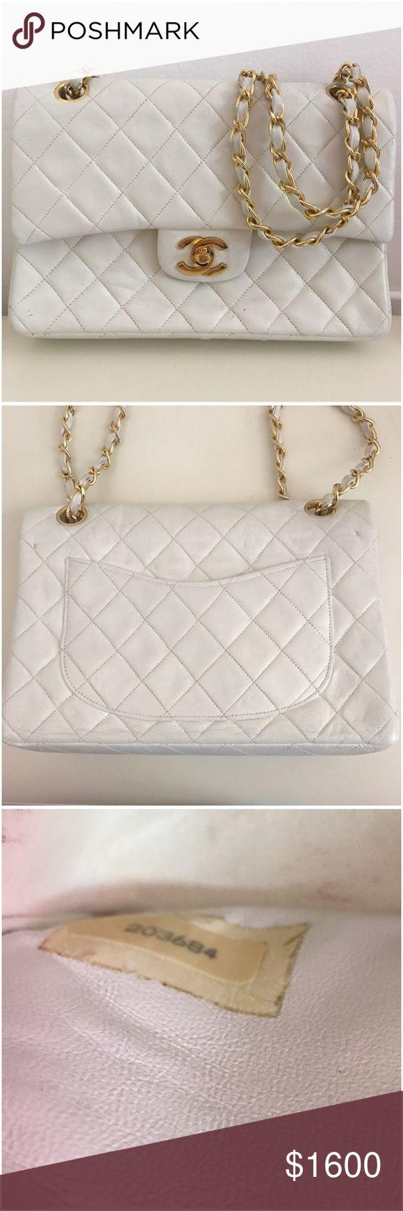 Chanel handbag superb vintage chanel bag vintage leather - Authentic Chanel Double Flap Beige Vintage
