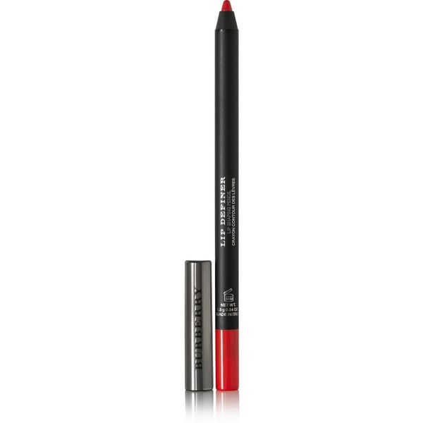 Burberry Beauty Lip Definer - Military Red No.09 ($23) ❤ liked on Polyvore featuring beauty products, makeup, lip makeup, lip pencils, lèvres, red, lip pencil and burberry