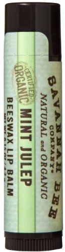 Savannah Bee Company Certified Organic Mint Julep Lip Balm 015Ounce Pack of 4 -- You can find out more details at the link of the image.