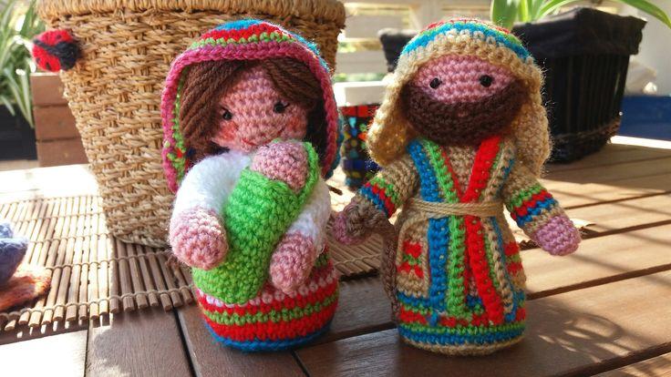 #virgen #sanjose #belen #navidad #amigurumi #crochet