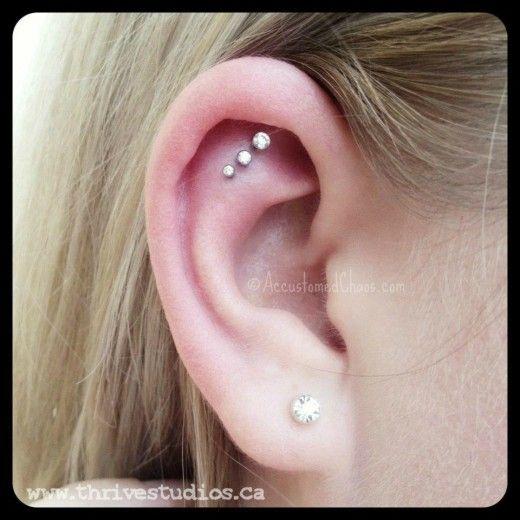 Really cute ear piercings