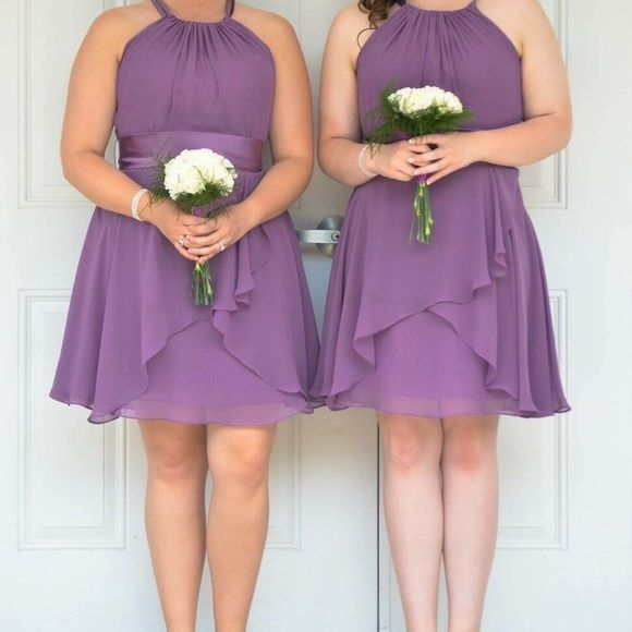 Bridesmaids Dress in Wisteria Bridesmaids Dress in Wisteria size 12, never altered and worn once in a wedding. David's Bridal Dresses
