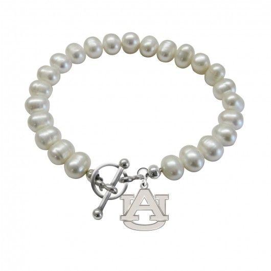 Auburn Tigers Freshwater Pearl Bracelet  #auburn #tigers #university #war #eagle #jewelry #college #pearl #bracelet #AU