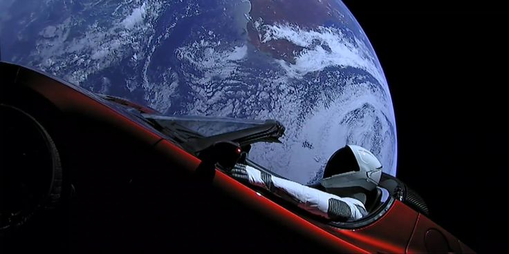 Elon Musk releases beautiful new video of Tesla Roadster and Starman launching into space on SpaceXs Falcon Heavy