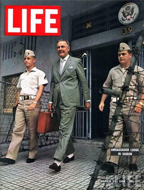 Henry Cabot Lodge, Jr. 3.  The Now-Famous Belgian-Loafers-In-Vietnam Shot.