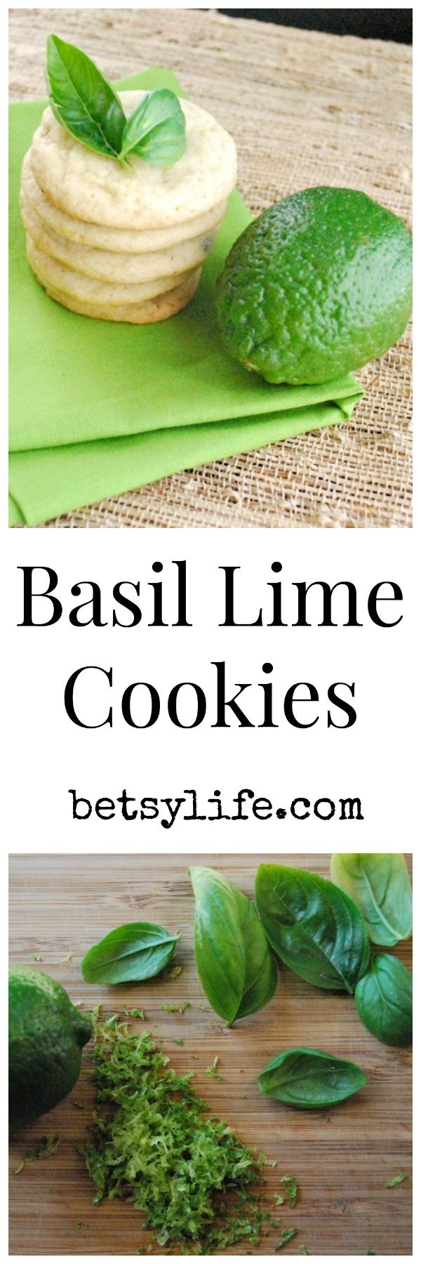 Basil Lime Cookies: increase vanilla to 1 tsp & add fresh lime juice 1/2-1 tablespoon