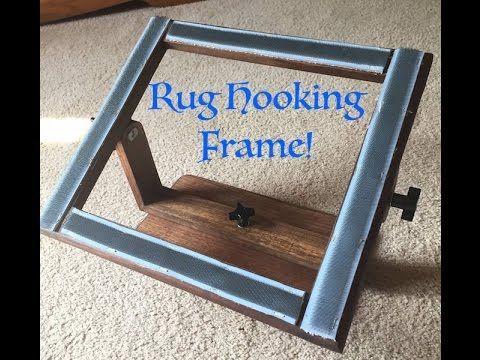 Making A Rug Hooking Frame Youtube Hook Rug