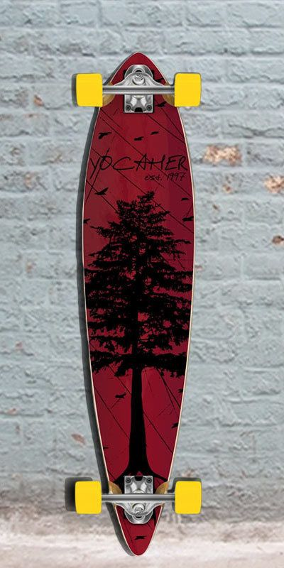Punked In The Pines Red 40 inch Pintail Longboard, $107.00 (http://longboardsusa.com/punked-in-the-pines-red-40-inch-pintail-longboard/)