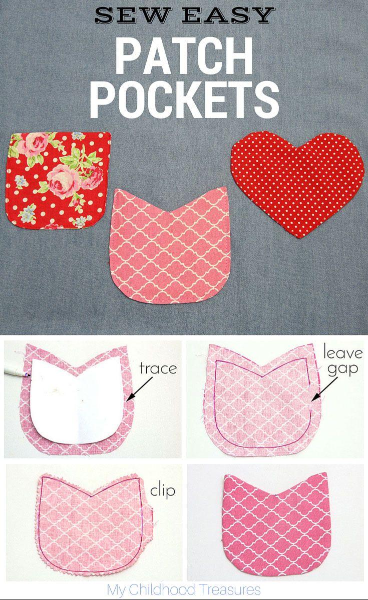 I love patch pockets! Make them any shape