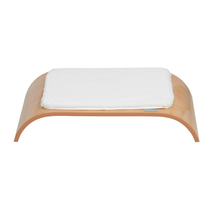 """Pawhut 27"""" Mid-century Modern Pet Bed - Burlywood/White - Houses & Beds - Dog Supplies - Pets"""