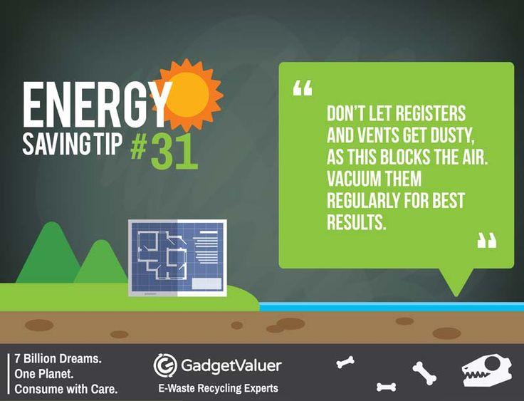 Energy Saving Tip 31 | 150+ Sustainability Resources | #WED2015 #7BillionDreams #Sustainability