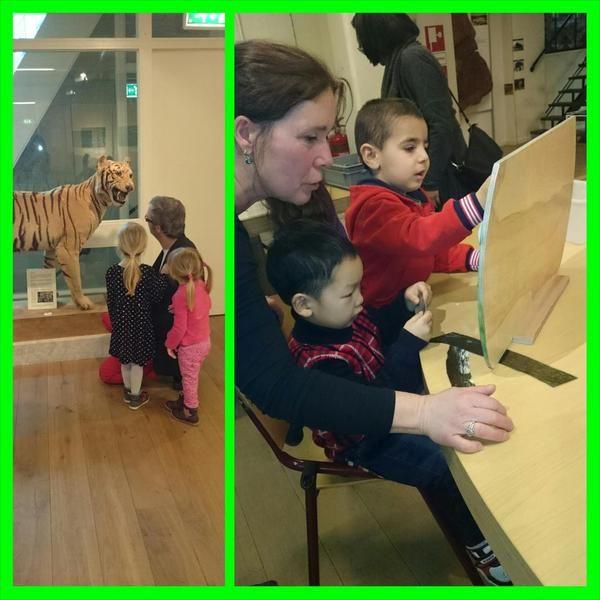 #tstartblokcuijk | Groep 1-2 op bezoek bij het natuurmuseum in Nijmegen. Ook hier leren kinderen over dieren .