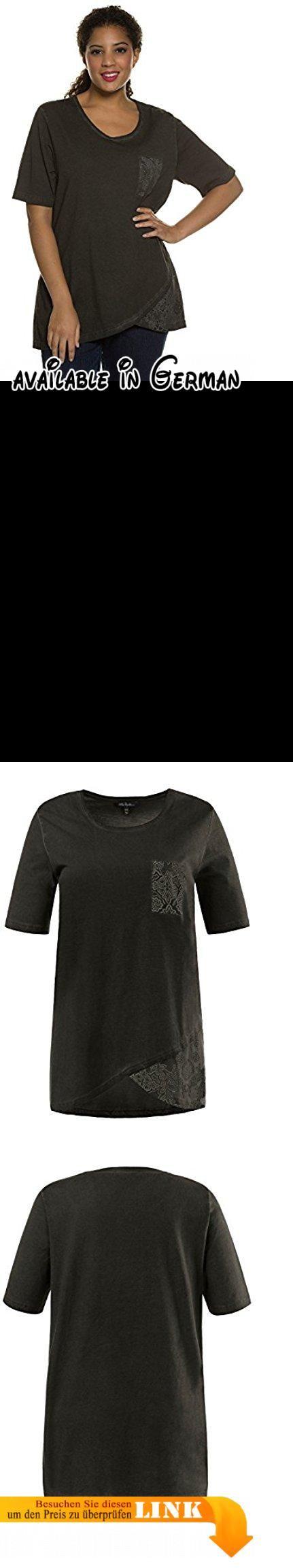 Ulla Popken Damen große Größen bis 60   T-Shirt   Longshirt aus 100 % Baumwolle   Langes Oberteil mit Halbarm, Rundhals & Brusttasche   Asymmetrisch   schwarz 42/44 704873 10-42+. <p>Lässiges Longshirt in schwarz aus reinem Cotton und im langen Schnitt. </p><p>Das Shirt lässt sich top zur Jeans, Leggins oder auch zu einem coolen Jeansrock kombinieren. </p><p>Der asymmetrische Schnitt ist besonders interessant da die Passform gerade geschnitten ist aber der Schnitt dem