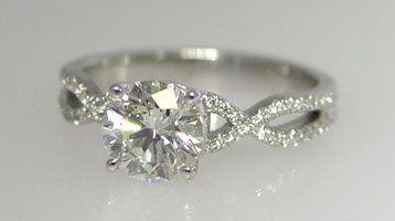 infinity symbol band engagement ring.