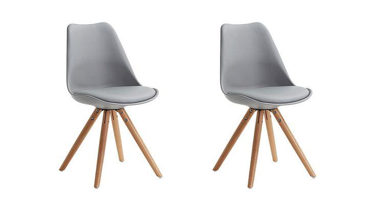 MONOQI | Set of 2 Ignacio Chairs - Grey