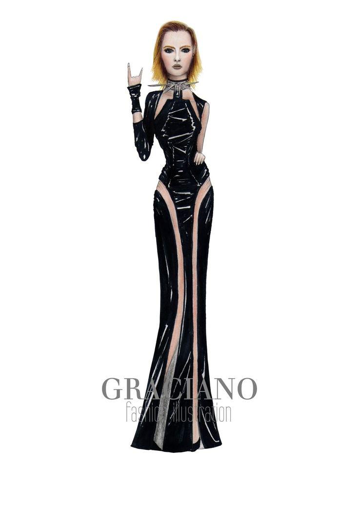 GRACIANO fashion illustration: Versace A/W 2013 #MFW