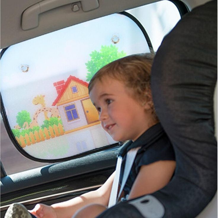 Universal Window Sun Shades Perfectly protect babies and passengers from sun glare, heat and harmful UV rays in both Summer and Winter. 4 attached high-quality suction cups ensures the sun shade stays in place. Made of mesh material to reduce sun glare while maintaining visibility.   Package includes: 2 car sun shades