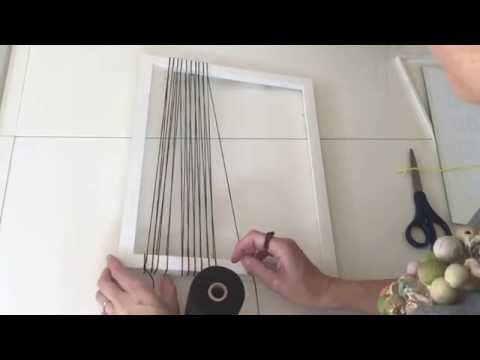 Video on how to warp a picture frame and use it as a loom!