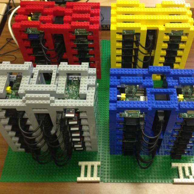 PiCloud Is A Model Cloud Made Of Raspberry Pi & LEGO For Teaching Students About WebPlatforms | TechCrunch