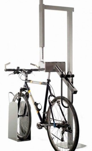 bike-parking rack designed to get the most use out of one lock