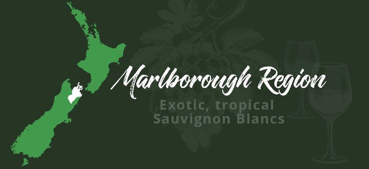 An idea of where in New Zealand you'll find the Marlborough wine region.