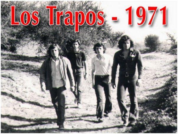Los Trapos. De las primeras fotos tomadas. Año 1971. Grupo Rock Santiago de Chile.
