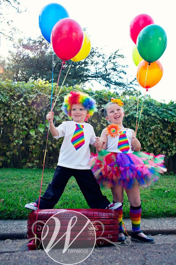 Clown Party - Clown Costume  SEWN  petti tutu set  tutu  by trendylittlecreation,