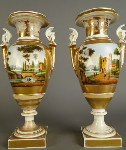 Paris Porcelain Hand Decorated Vase Fitted For Lamp Pia: 1000+ Images About Legionary's Handled Old Paris Vase On