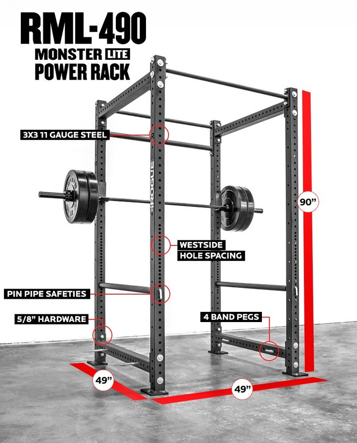 Power Rack Dimensions to Swing Muscles