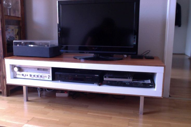 I present to you my first IKEA hack of a LACK TV unit transformation with plywood and new legs!