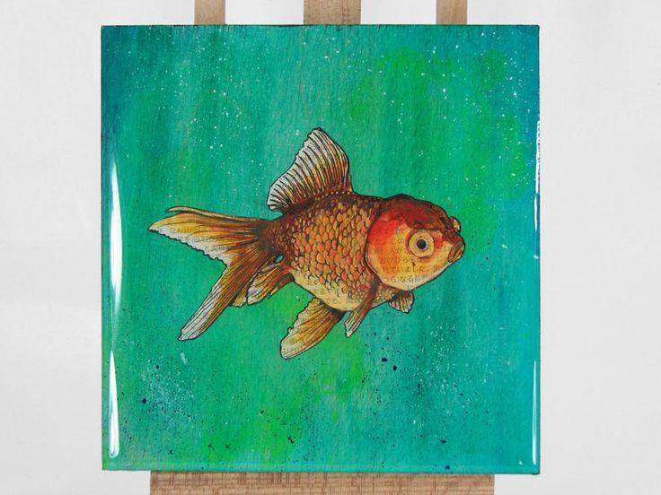Best Goldfish Images On Pinterest Goldfish Beta Fish And - Incredible 3d goldfish drawings using resin