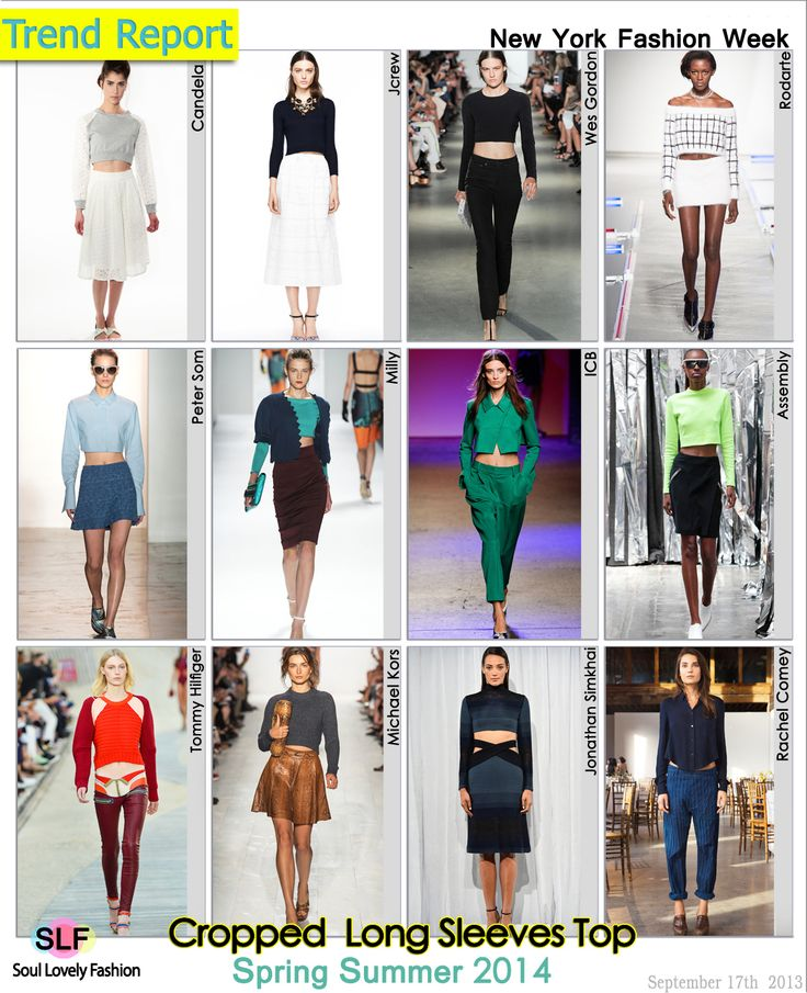 Cropped Long Sleeves Top #Fashion Trend for Spring Summer 2014 #Spring2014 #trends