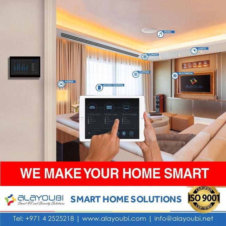 We Make your home smart  http://www.alayoubi.com/solutions/smart-home-bms-system/