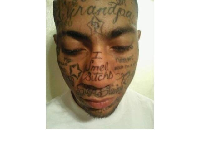 39 Tragically Bad Face Tattoos...I Can't Look Away. (Slide #48) - offbeat