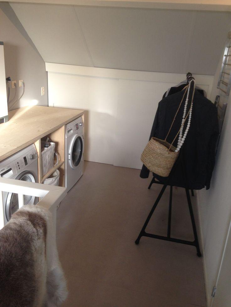 Waskamer wasmachine droger ombouw laundry