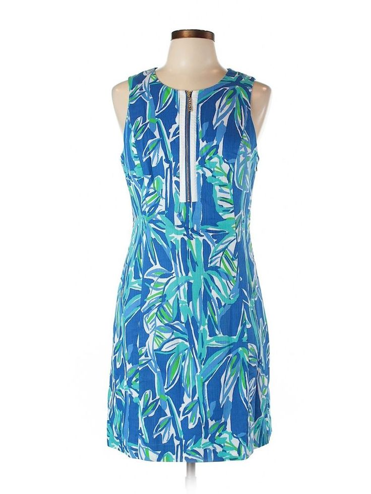 New Women Lilly Pulitzer Blue Crush Bamboom Penelope Cutout Shfit Dress Size 10 #LillyPulitzerforTarget #Shift #SummerBeach