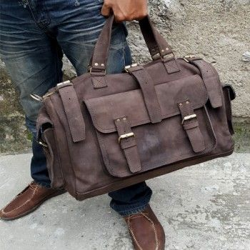 Tas Travel Kulit Asli (Crazy Horse Leather Duffle Bag 004)