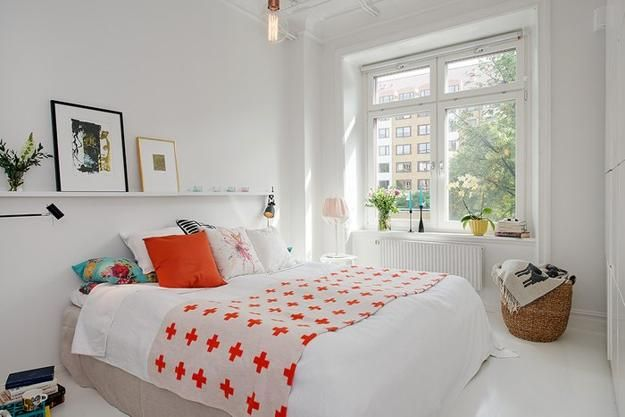 A small bedroom can be bright and airy offering stylish and comfortable personal space for rest